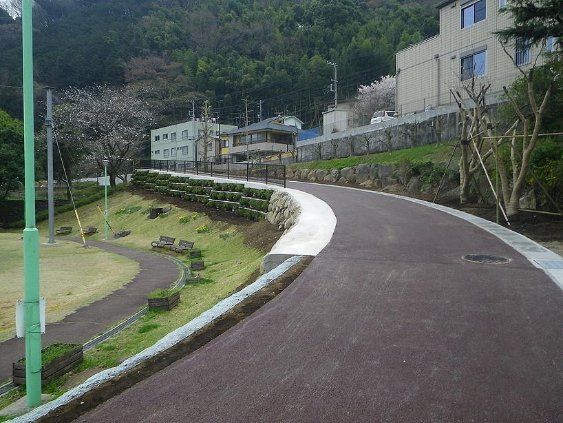 泉公園沿道工事(熱海市)
