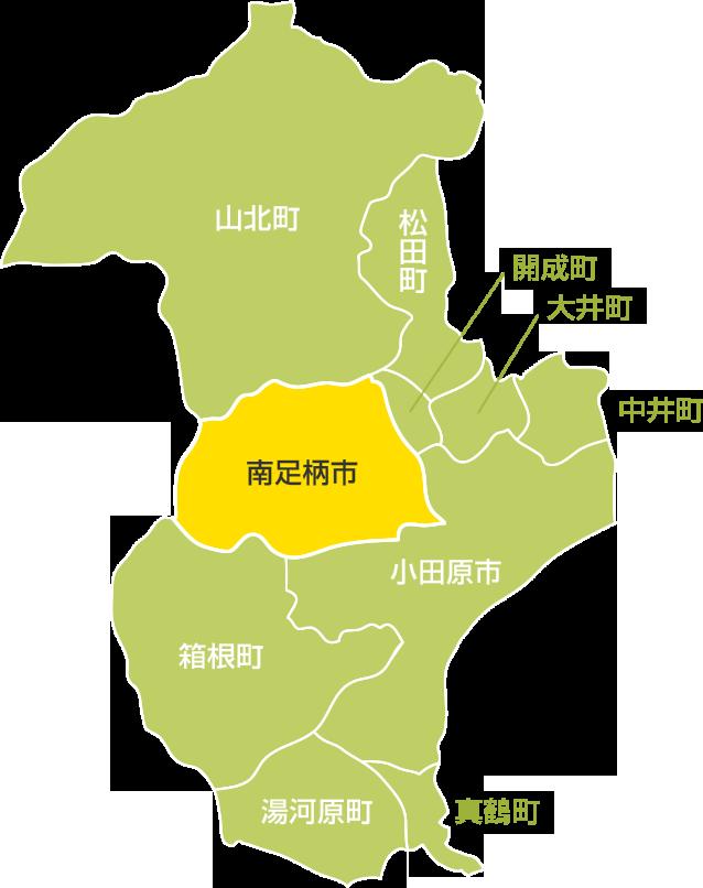 神奈川県西部地図