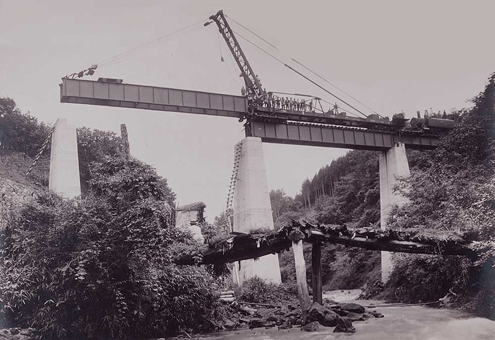 鉄道省久大線工事(大正9~11年)